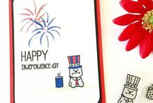 Independence Day Cards / Cards celebrating Independence day, featuring Sweet Stamp Shop.