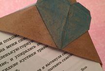 Закладки / Закладки в технике Оригами