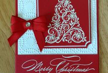Stamped Christmas Cards / by Damsel of Distressed Cards