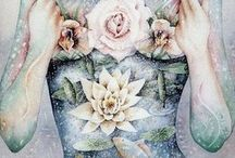 Sacred Body / Sacred Body inspirational Art for my bodyart competition  Art by Lana Chromium