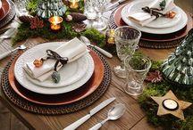 Home - prostřený stůl, nádobí