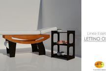 Lettini per massaggi / MG Legno Arredo was founded in 1989 by the ideas of Joseph Milo, who, with passion and dedication, has been able to transfer its experience in wood processing in the production of articles devoted to wellness professionals.  The wide range of products includes beds and accessories for spas, beauty salons, saunas, swimming pools and centers for physiotherapy and rehabilitation. MG Legno Arredo is a synonym of MADE IN ITALY.