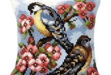 Borduur patronen / Patronen van bloemen voor ringkussentjes en sierkussentjes