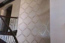 Allys Manor staircase & walls