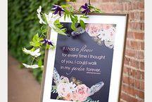 Wedding Signs & Typograhy