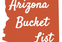 My Arizona Bucket List / Arizona is a unique and beautiful environment.  It's a wonderful place to visit.