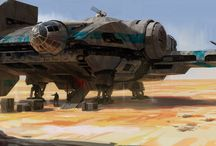 Star Wars concept ships