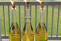 Wine bottle art