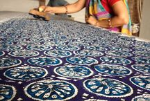 Indian Fabric printing and block dyeing