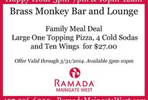 Restaurant Specials / Check-out our most recent specials and promotions for the Tradewinds Restaurant and the Brass Monkey Bar and Lounge!  / by Ramada Kissimmee Maingate West