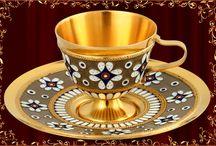 Cups for tea, coffee