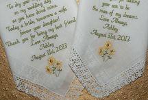 SunFlowers Embroidered Wedding Handkerchiefs