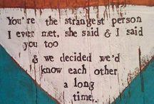 Words  / by Sarah DePaull