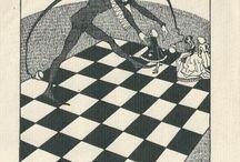 Exlibris / Bookplates - chess