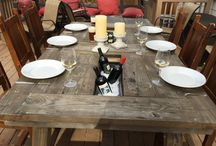 Custom Farm Tables / Custom built rustic farm tables