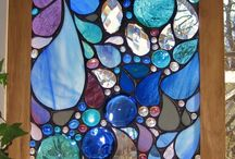 stained glass for my storage shed / by Nancy Melton