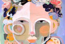 Abstrakte Portraits