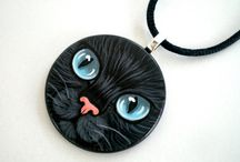 Shebbodesign JEWELRY / Hand Painted Wearable Art Necklaces, Rings , Brooches and more.. http://www.shebbodesign.etsy.com