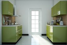 Parallel shaped Modular kitchen designs / Latest parallel kitchen designs