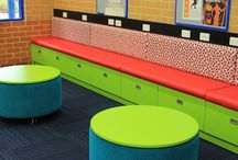 Library Furniture - Upper Swan Primary School / Our latest library make-over. This library is amazing with all the fantastic seating and reading areas.