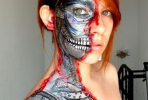 Face Paint Cyborg Robot