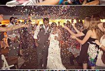 Wedding; net getrouwd en uitzwaaien weddingcouple