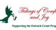 Tidings of Comfort and Joy / Our annual outreach fundraiser