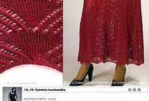 Вязанные платья. Спицы