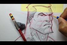 drawing super heroes