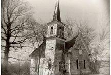White Country Church / Pretty country churches I love...