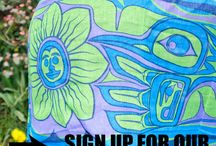 Indigenous Scarves / Scarves with licensed designs by Indigenous artists.