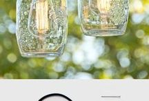 DIY Lighting / Get amazing DIY Lighting Ideas, these ideas are form all over the web and will inspire you to be more creative. They include chandeliers, fixtures, do it yourself lamps, lights and creative lighting solutions for outdoors, office, backyard, entry, living room and bedroom. #diylighting #fairylights#lights