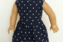"""American Girl Doll Clothes - Dresses / Dresses for 18"""" dolls made using patterns from www.ik-patterns.com with links to patterns"""
