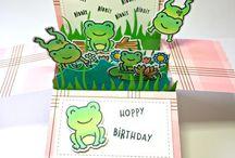 Card frog stamp
