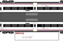 trenes recortables