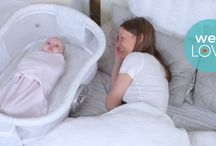 HALO Bassinest Swivel Sleeper / The revolutionary HALO™ Bassinest™ Swivel Sleeper is the only infant bassinet that moves to bring baby to you. This amazing product helps mom's sleep closely to baby and is great for c-section recovery!