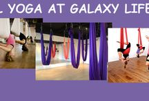 """Galaxy Lifestyle Aerail Yoga and Fitness / """"Galaxy Lifestyle means to us, Millions of stars (our FRIENDS) gravitationally attracted to one another for a healthier lifestyle.""""  Aerial Yoga ^_^"""