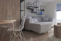 Projekt mieszkania / Mieszkanie 56m2 Łódź