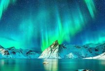Paint the North: Auroras, Mountains, and Ice