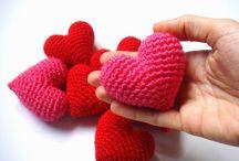 Cœur au. Crochet