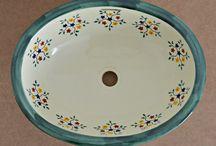 Landhausstil Waschbecken / Landhausstil Waschbecken aus Mexiko mit wunderschönen Mustern für ein besonderes Badezimmer oder Gäste Toilette. Mehr Info unter www.mexambiente-shop.com