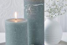 Nordic pillar candles