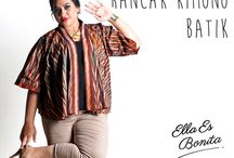 2015 - Kimono Batik / Kimono batik which specially designed for sophisticated curvy women originally made by Indonesian Designer & Local Brand: Ella Es Bonita.