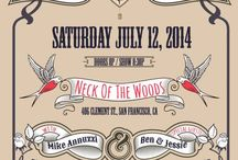 Show Posters / Katie Garibaldi's Follow Your Heart ALBUM RELEASE SHOW Saturday, July 12, 2014 Neck Of The Woods - San Francisco, CA