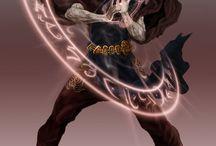 Mag / Inspiracje do postaci z mojej książki: Mag ognia archeolog Druid zwierzęta leczenie Mag bitewny woda powietrze pirat