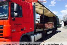 Firma - B&M GRANITY - Transport, Furpark / Wir liefern selbst...Firma B&M GRANITY bietet allen Kunden Natursteine mit dem Transport an. Steine werden mit einem professionellen Fuhrpark geliefert.