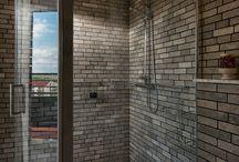 grey limestone bathrooms