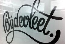 hand-lettered script