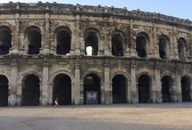History / Old roman arena on Nîmes France