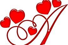 alfabeto coração